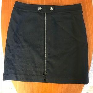 J.McLaughlin lined navy zip skirt size 10